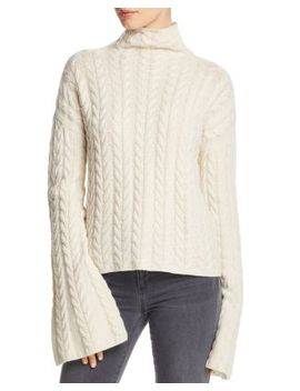 Horseshoe Cable Cashmere Sweater by Theory