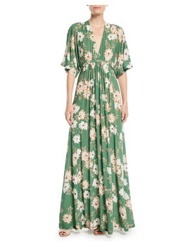Willow Crepe Plunge Neck Maxi Dress, Plus Size by Rachel Pally