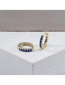 Small Hoop Earrings   Sapphire Earrings   Dainty Hoops   Minimalist Hoops   Blue Hoop Earrings   Minimal Hoops   Tiny Hoop Earrings by Etsy