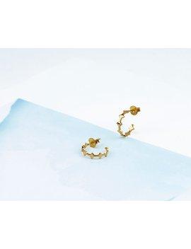 Hoop Earrings, Dainty Hoop Earrings Gold, Geometry Hoop Earrings, Delicate Hoop Earrings, Minimalist Jewelry, Dainty Hoop Gold Earrings by Etsy