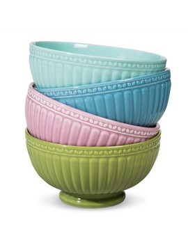 Camille Assorted Cereal Bowl Set Solid Multicolored 18oz 4pk by Shop This Collection