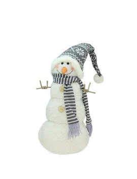 """Northlight 15"""" Snowman With Gray And White Hat Christmas Tabletop Decoration by Northlight"""