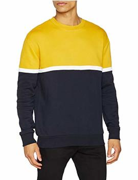 New Look Herren Sweatshirt Self Block Crew by Amazon