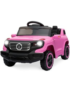 Best Choice Products 6 V Kids Ride On Car Truck W/ Parent Control, 3 Speeds, Led Headlights, Mp3 Player, Horn   Pink by Best Choice Products