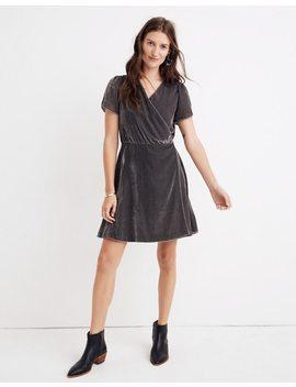Velvet Wrap Dress by Madewell