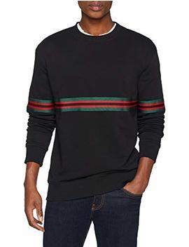New Look Herren Sweatshirt Tape Crew by Amazon