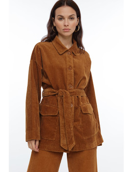 Trend Lady Corduroy Coat by Chiquelle