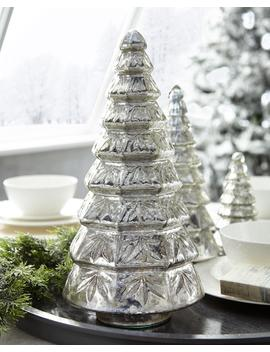 Mercury Glass Layered Tabletop Christmas Tree, Large by Neiman Marcus