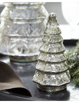 Mercury Glass Layered Tabletop Christmas Tree, Small by Neiman Marcus