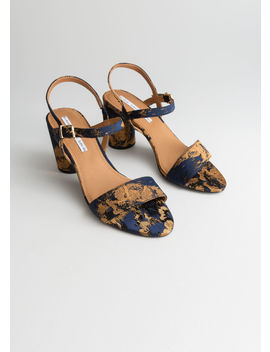 Metallic Jacquard Heeled Sandals by & Other Stories
