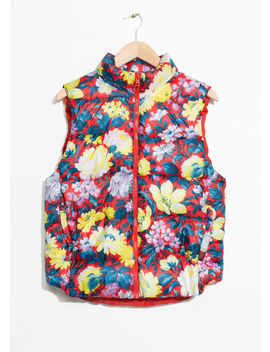 Floral Print Padded Vest by & Other Stories