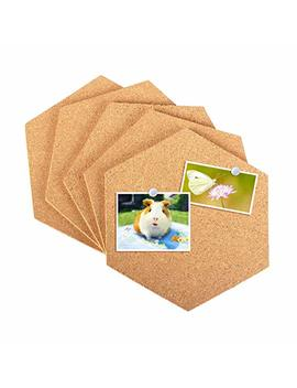 5 Pack Cork Board Tiles Mini Hexagon Wall Bulletin Boards With Full Adhesive With 50pcs Pushpins For Pictures, Photos,Notes,Notes,Drawing And Home Decorations by Salare