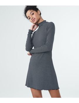 Striped Mock Neck Swing Dress by Aeropostale