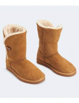 Faux Suede Button Boot by Aeropostale