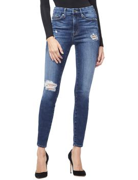 Good Legs Cheetah Pockets High Waist Jeans by Good American