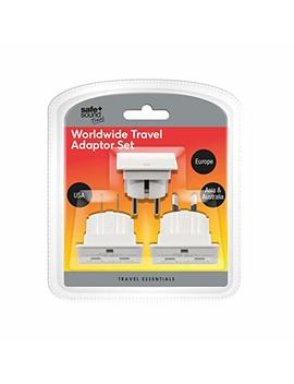 Safe And Sound Worldwide Travel Adaptor Set   Three Single Socket Adaptors (Full List Of Countries Below) by Safe And Sound