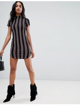 Ax Paris Short Sleeve Striped Dress by Dress