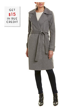 Badgley Mischka Double Face Wool Blend Coat With $15 Credit by Badgley Mischka