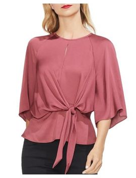 Tie Front Blouse by Vince Camuto