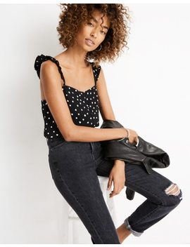Ruffle Strap Cami Top In Painted Dots by Madewell