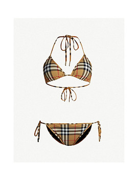 Checked Triangle Bikini by Burberry