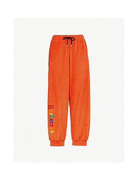 Burberrys Cotton Towelling Jogging Bottoms by Burberry