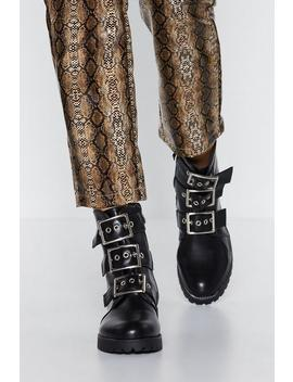 Three Strikes Combat Boot by Nasty Gal
