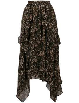 Torri Asymmetric Silk Skirt by Ulla Johnson