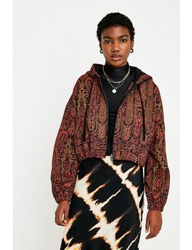 Uo Tapestry Crop Jacket by Urban Outfitters