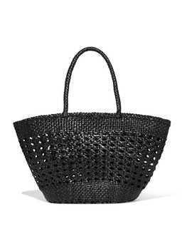 Cannage Woven Leather Tote by Dragon Diffusion