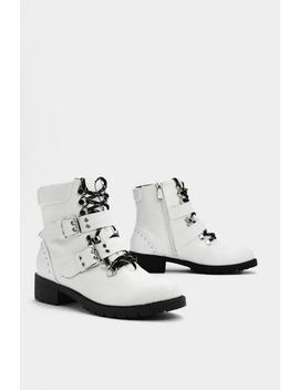 Think On Your Feet Faux Leather Boot by Nasty Gal