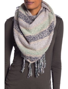 Stripe Boucle Triangle Scarf by Collection Xiix