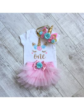 Unicorn 1st Birthday Outfit by Etsy