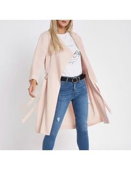 Petite Peach D Ring Duster Coat by River Island