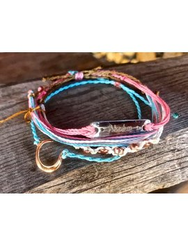 Waxed, Waterproof, Adjustable, Stackable, Surfer, Friendship Bracelet Set, Country Charm by Etsy