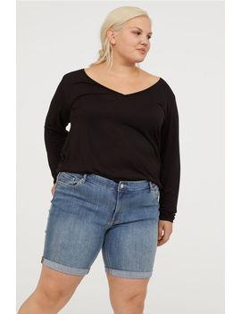 H&M+ Regular Denim Shorts by H&M