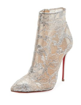 Gipsybootie Metallic Lace Red Sole Ankle Boot by Christian Louboutin