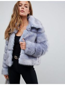 Missguided Premium Crop Pelted Faux Fur Jacket by Missguided