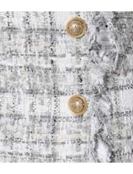 Exclusive To Mytheresa – Metallic Checked Tweed Miniskirt by Balmain