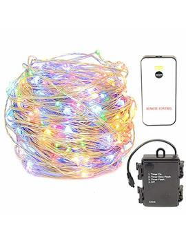 Hahome Battery Operated Christmas Fairy String Lights With Remote For Holiday Wedding Halloween Patio Party Decoration,Rgbww by Hahome