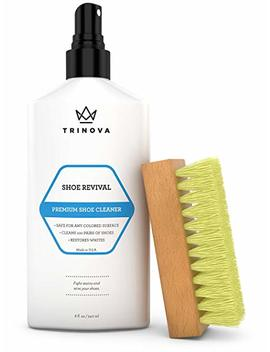 Tri Nova Shoe Cleaner Kit   Tennis, Sneaker, Boots, More   Premiun Cleaning To Remove Dirt And Stains. Free Brush 8 Oz by Tri Nova