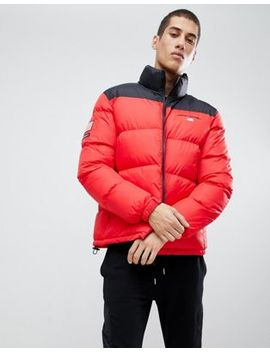 Penn Sport Puffer Jacket In Red With Small Logo by Penn Sport