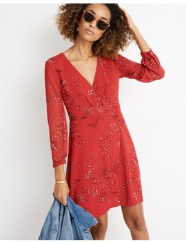 Hazelwood Wrap Front Mini Dress In Windswept Floral by Madewell