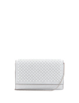 Paloma Coquillage Spikes Fold Over Clutch Bag by Christian Louboutin