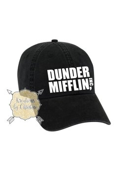 The Office Hat, Dad Hat, Dad Cap, Dunder Mifflin by Etsy