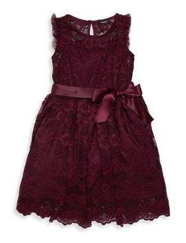Girl's Scalloped Lace Dress by Zunie
