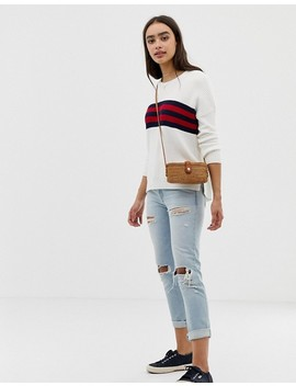 Hollister Oversized Jumper With Stripe Panel by Hollister