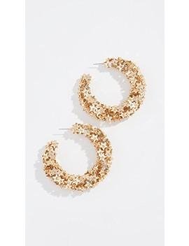 Star Sequin Earrings by Oscar De La Renta