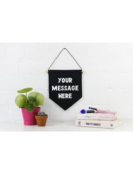 Custom Wall Banner   Your Own Message   Cotton Pennant Banner   Hanging Wall Art   Colour Options   Free Uk Delivery by Etsy