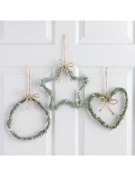 Icy Scandinavian Wreaths Set Of 3 by World Market